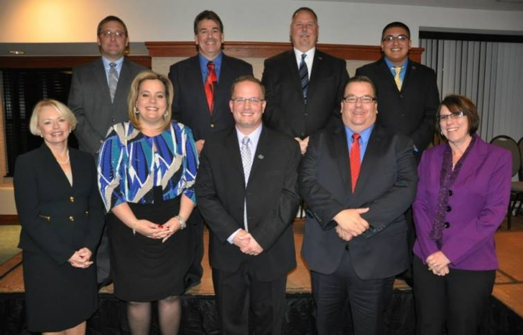 A group photo of the elected officials of the City of Taylor.
